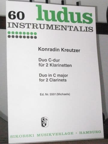 Kreutzer K - Duo in C for 2 Clarinets