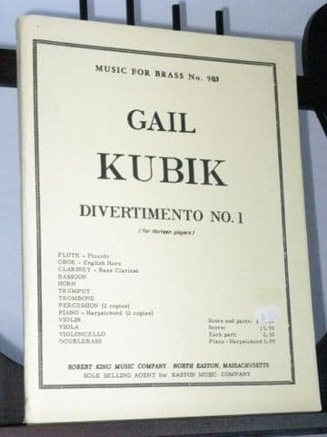 Kubik G - Divertimento No 1 for 13 Players