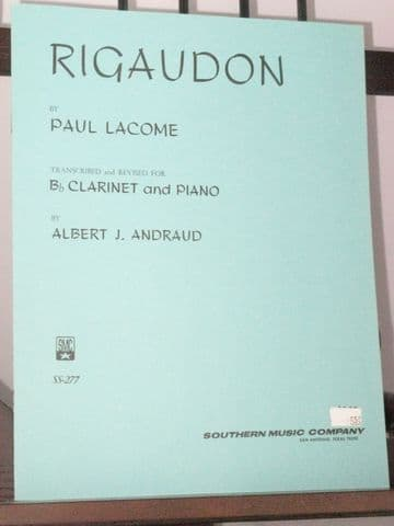 Lacome P - Rigaudon for Clarinet & Piano arr Andraud A J