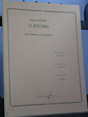 Loyon E - 32 Etudes for Oboe or Saxophone