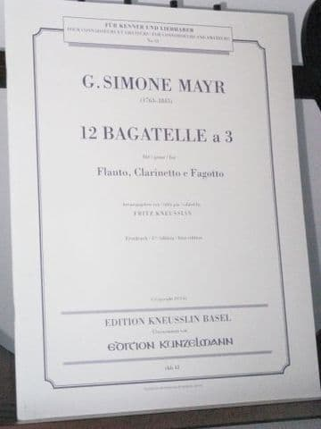 Mayr G S - 12 Bagatelles for Flute Clarinet & Bassoon