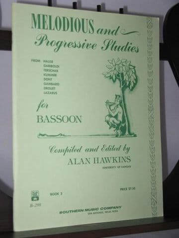 Melodious and Progressive Studies for Bassoon Book 2 ed Hawkins A
