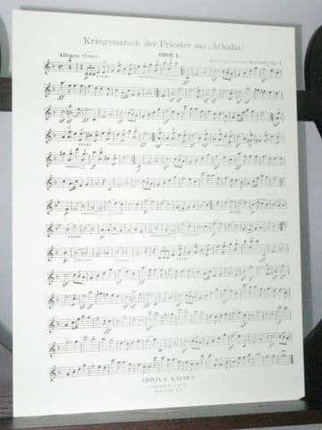 Mendelssohn F - War March of the Priests from Athalia Op 74 Oboe 1 Part