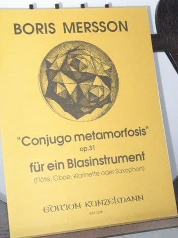 Mersson B - Conjugo Metamorfosis Op 31 for Solo Wind Instrument