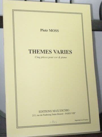 Moss P - Themes Varies for Horn & Piano