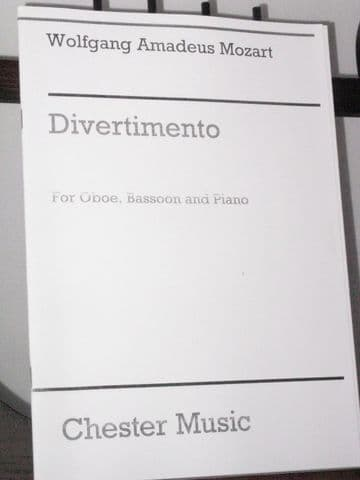 Mozart W A - Divertimento for Oboe Bassoon & Piano arr Rothwell E