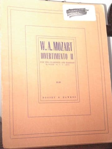 Mozart W A - Divertimento No 2 in B Flat K229/2 for 2 Clarinets & Bassoon