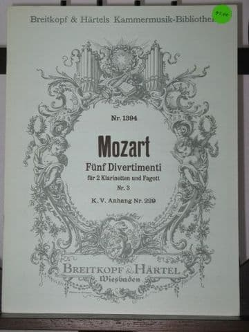 Mozart W A - No 3 from 5 Divertimenti K229