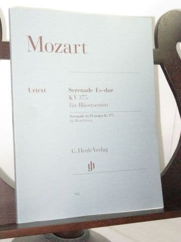 Mozart W A - Serenade in E Flat K375 for Wind Sextet
