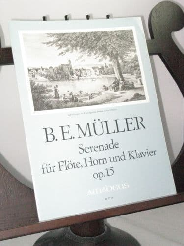 Muller B E - Serenade Op 15 for Flute Horn and Piano