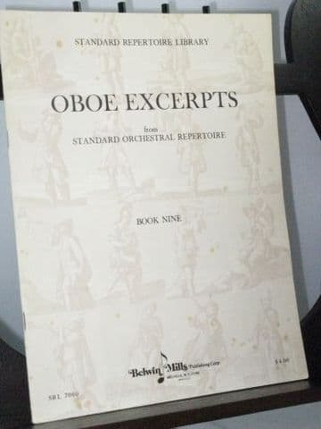 Oboe Excerpts from Standard Orchestral repertoire Book 9