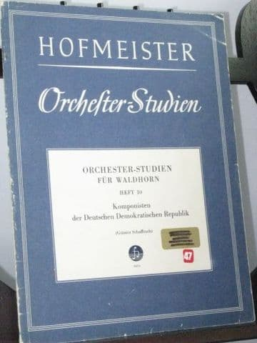 Orchestral Excerpts for French Horn Book 10 Composers of the DDR