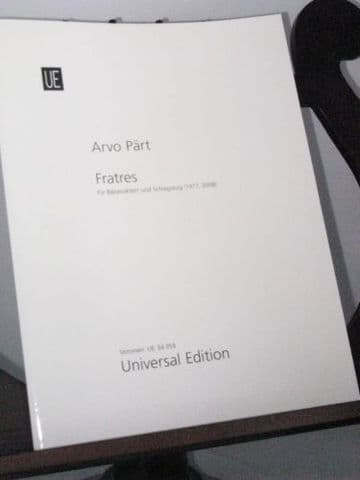 Part A - Fratres for Wind Octet and Percussion