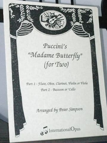Puccini G - Madame Butterfly for Two arr Simpson P