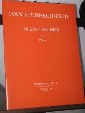 Pushechnikov I F - 60 Easy Studies for Oboe