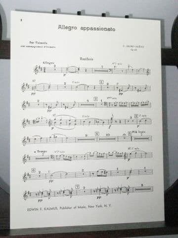 Saint Saens C - Allegro Appassionato Op 43 Oboes 1&2 Part