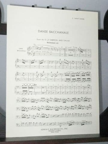 Saint Saens C - Danse Bacchanale from Samson and Dalila Bassoons 1&2 Part