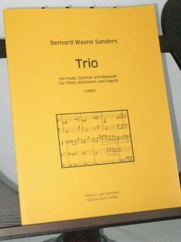 Sanders B W - Trio for Flute Clarinet and Bassoon