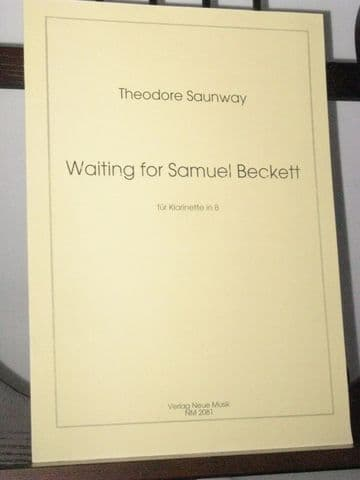 Saunway T - Waiting for Samuel Beckett for Solo Clarinet