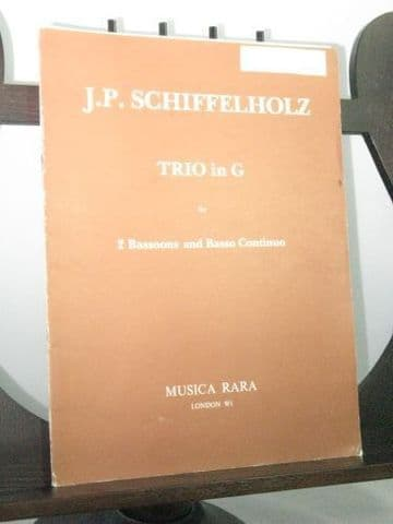 Schiffelholz J P - Trio in G for 2 Bassoons & Basso Continuo