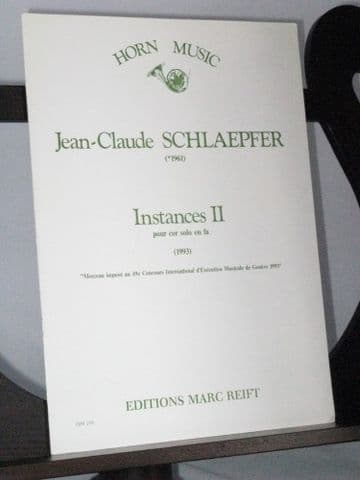 Schlaepfer J C - Instances II