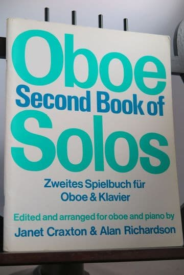 Second Book of Oboe Solos for Oboe & Piano arr Craxton J & Richardson A