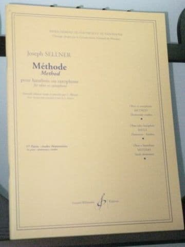 Sellner J - Method for Oboe or Saxophone Vol 1 - Elementary Studies