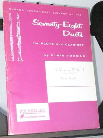 Seventy-Eight Duets Vol 1 (Easy-Medium) arr Voxman H