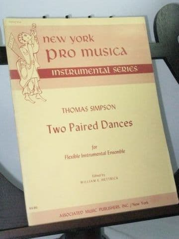 Simpson T - Two Dance Pairs for Flexible Instrumental Ensemble arr Hettrick W E