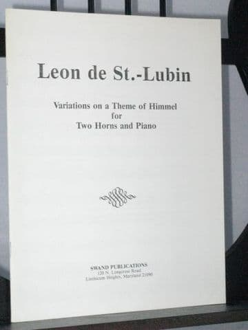 St-Lubin L de - Variations on a Theme of Himmel arr Swand