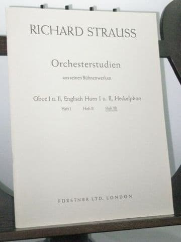 Strauss R - Orchestral Studies Oboe & English Horn Vol 3 Der Rosenkavalier