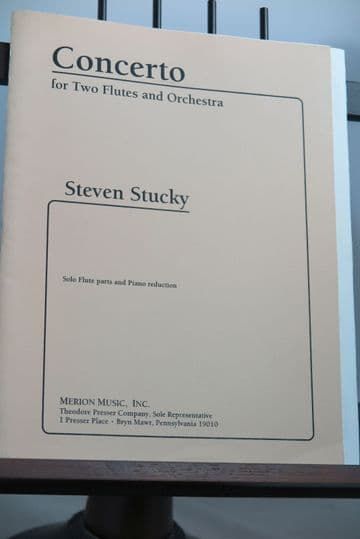 Stucky S - Concerto for 2 Flutes & Piano