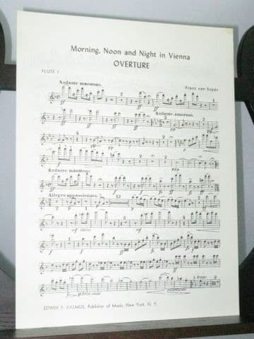 Suppe F von - Overture Morning Noon and Night in Vienna Flute 1 Part