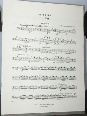 Tchaikovsky P I - Orchestral Suite No 3 Op 55 Bassoon 1 Part