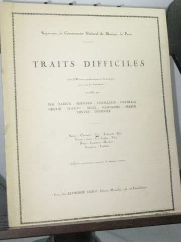 Traits Difficiles (Difficult Excerpts) for Horn