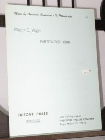 Vogel R C - Partita for Horn