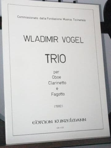 Vogel W - Trio for Oboe Clarinet & Bassoon