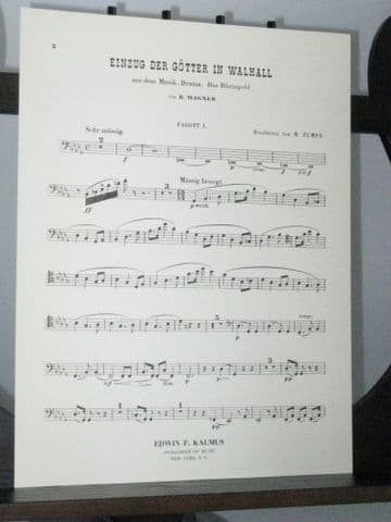 Wagner R - Entry of the Gods into Valhalla from Das Rheingold Bassoon 1 Part