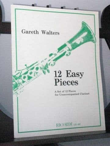 Walters G - 12 Easy Pieces for Unaccompanied Clarinet