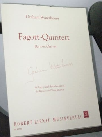 Waterhouse G - Bassoon Quintet for Bassoon & String Quartet