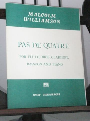 Williamson M - Pas de Quatre for Flute Oboe Clarinet Bassoon & Piano
