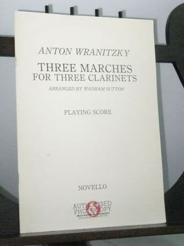 Wranitzky A - Three Marches for Three Clarinets