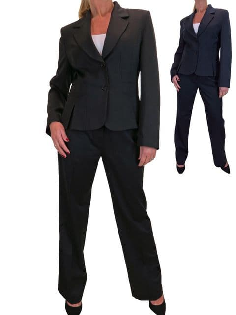2 Piece Office Blazer Wide Leg Trouser Suit