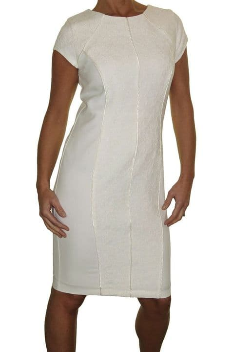 Ladies Lace Front Pencil Style Dress