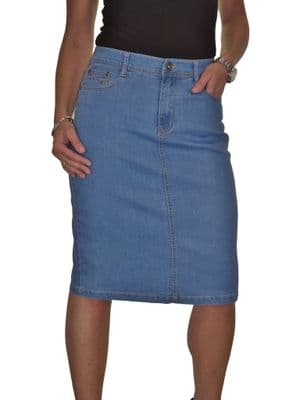 Womens Stretch Denim Jeans Pencil Skirt