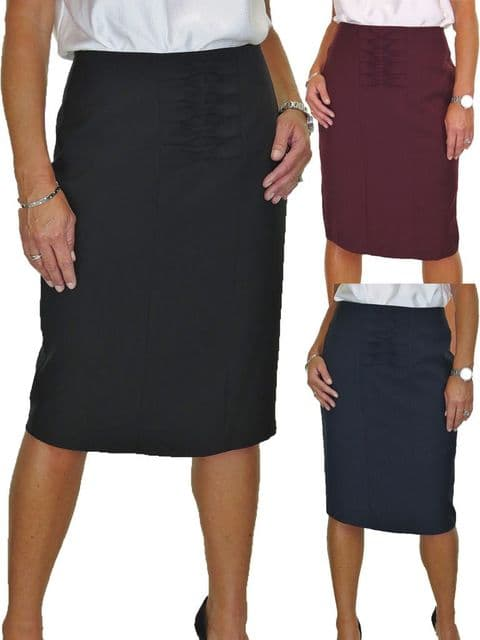 Below Knee Length Lined Pencil Skirt