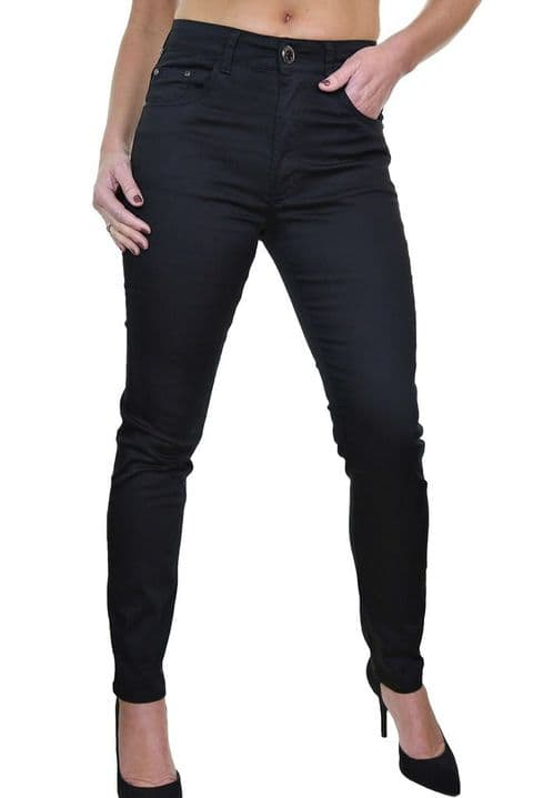 High Waist Skinny Stretch Chino Jeans