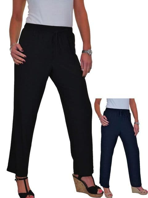 High Waisted Easy Fit Straight Leg Trouser With Sheen