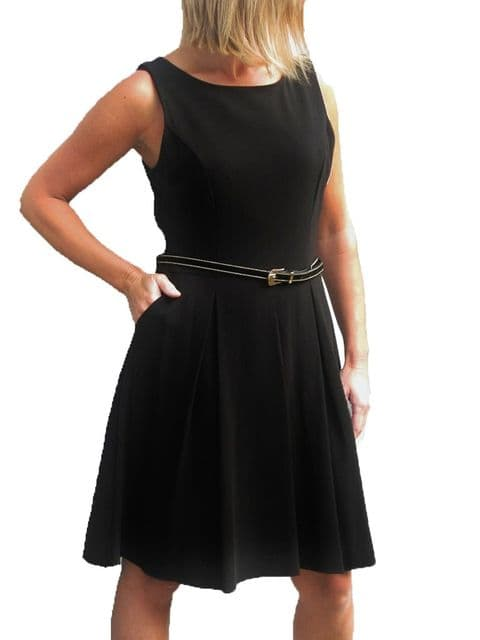 Ladies Flared Skater Style Pleated Dress