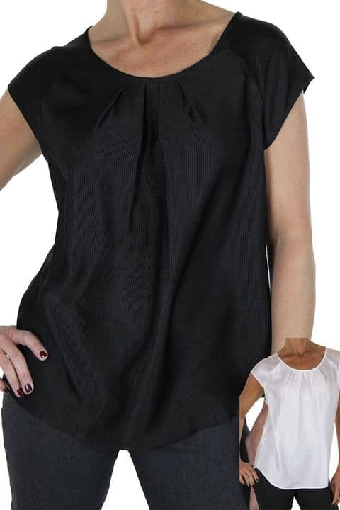 Ladies Silky Feel Textured Top With Shine